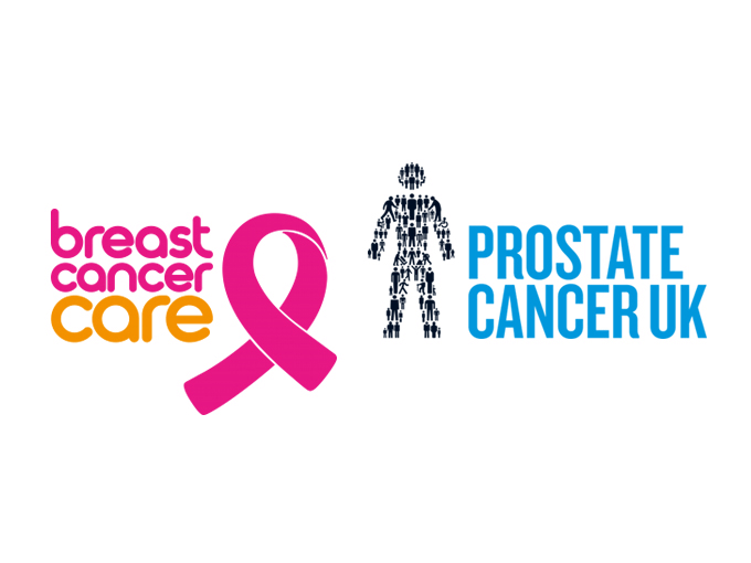 Breast Cancer Care and Prostate Cancer UK logos