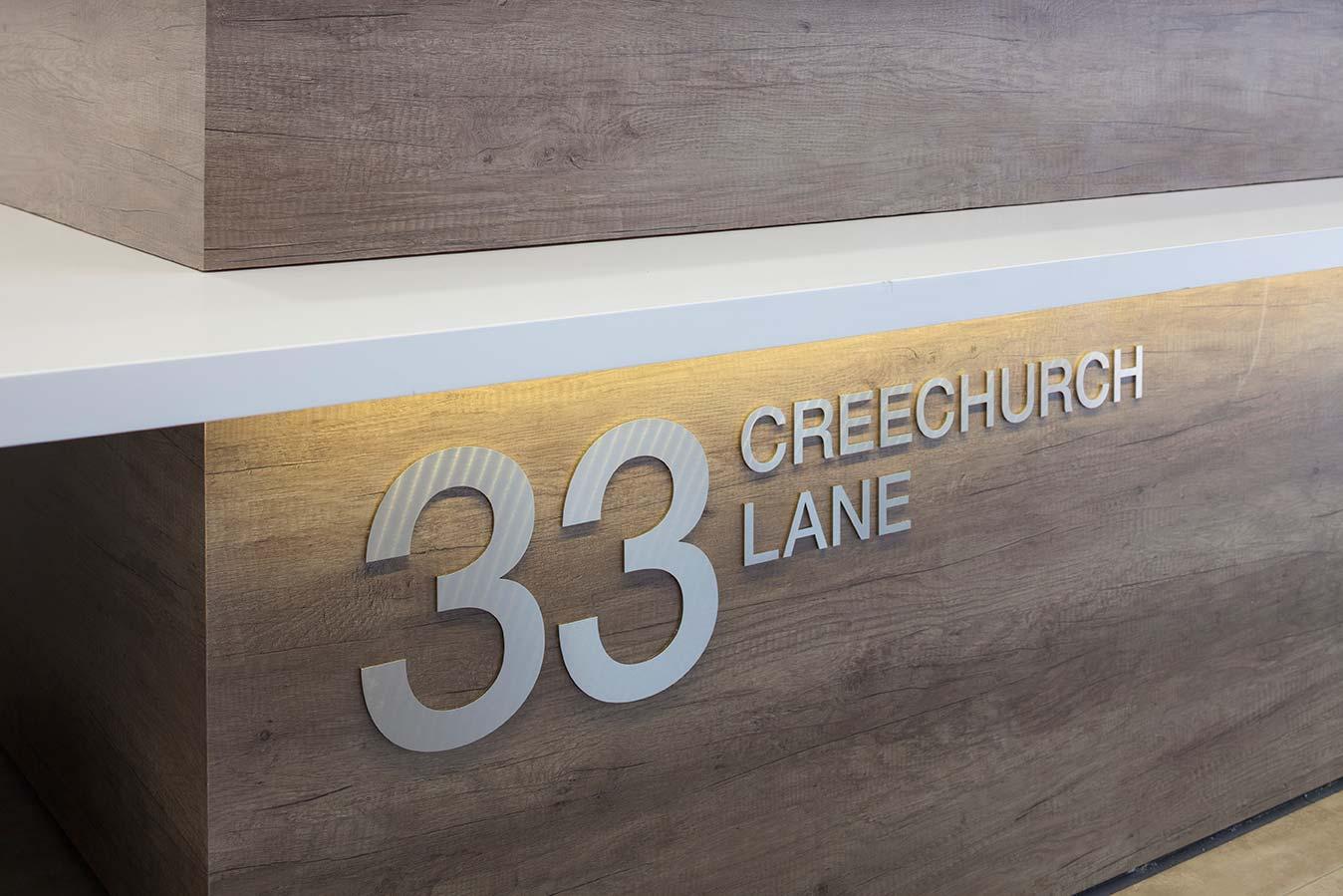 33 Creechurch Lane reception