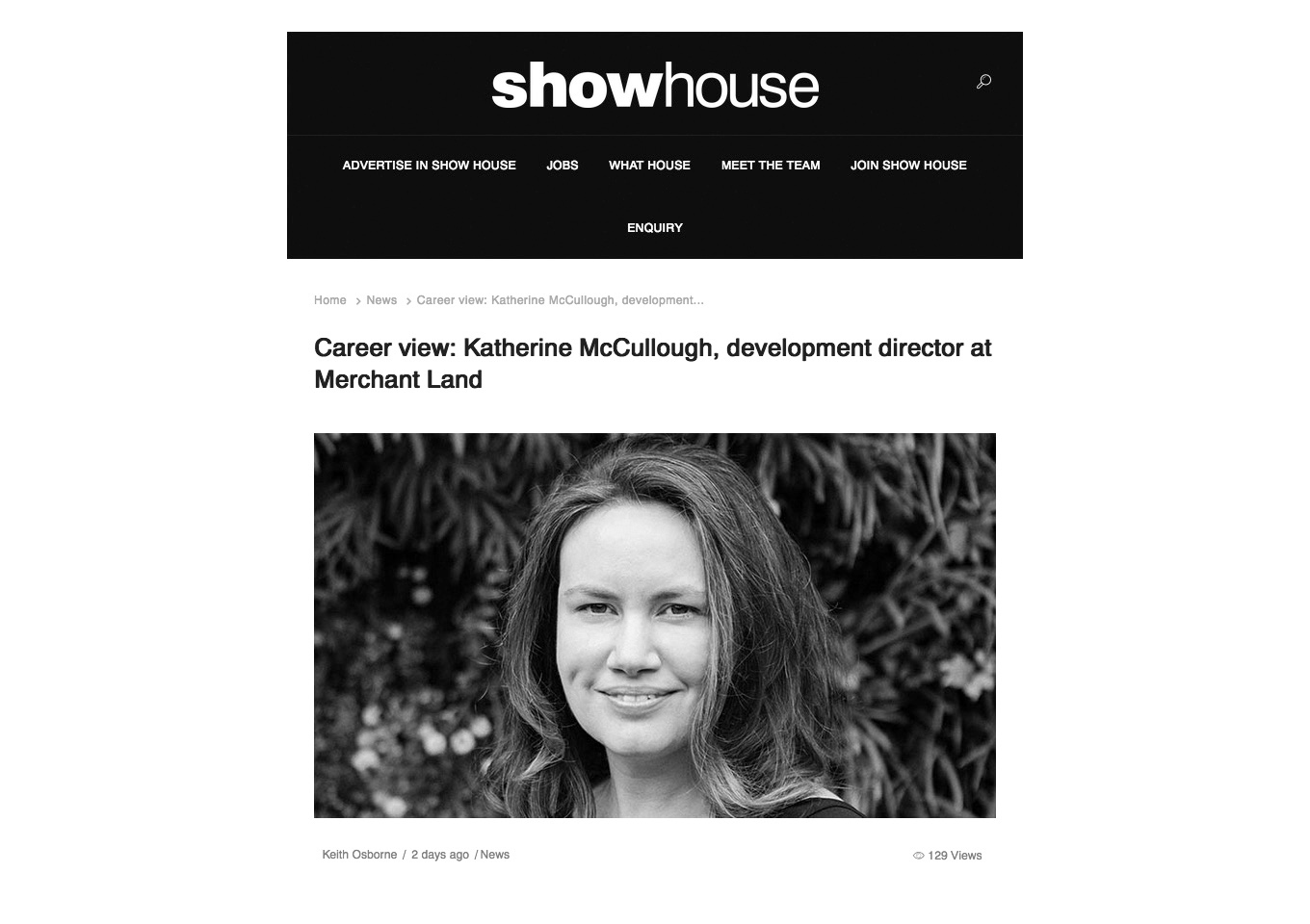 Katherine interview Showhouse
