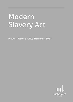 Modern Slavery Act Policy Statement 2017 cover