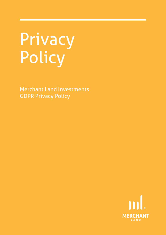 Merchant Land Investments GDPR Privacy Policy cover