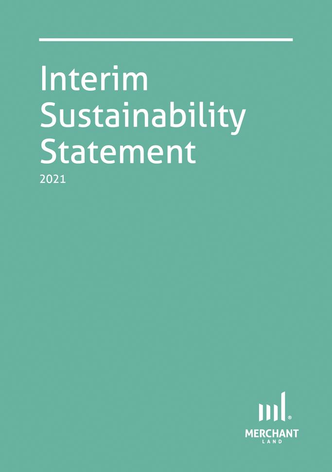 Interim Sustainability Statement 2021 cover